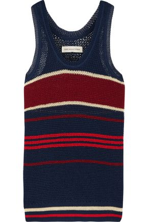 ISABEL MARANT ÉTOILE Dully striped open-knit tank