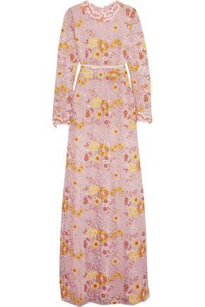 GIAMBATTISTA VALLI Appliquéd guipure lace gown