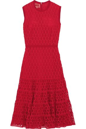 GIAMBATTISTA VALLI Cotton-blend guipure lace dress
