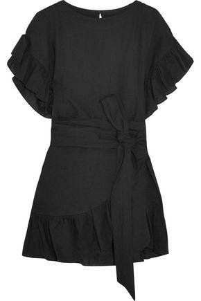 b6b0ba4efe ISABEL MARANT ÉTOILE Delicia ruffled linen mini dress ...