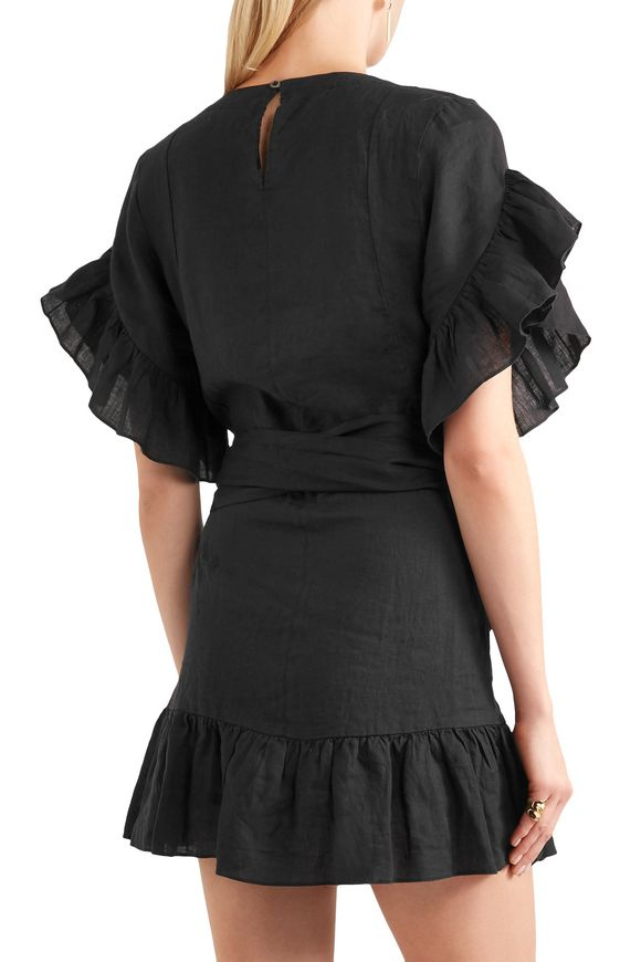 274059dae47 Delicia ruffled linen mini dress