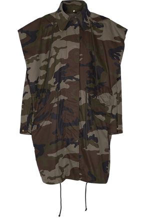 MM6 by MAISON MARGIELA Hooded camouflage-print cotton-canvas jacket