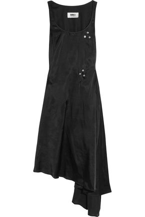 MM6 MAISON MARGIELA Convertible asymmetric embellished satin-twill dress