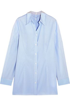 MM6 MAISON MARGIELA Striped cotton-poplin shirt