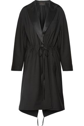 ALEXANDER WANG Silk satin-trimmed wool and mohair-blend parka
