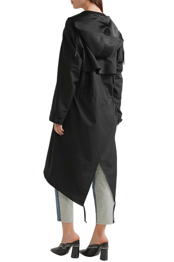 Silk satin-trimmed wool and mohair-blend parka | ALEXANDER WANG | Sale up  to 70% off | THE OUTNET