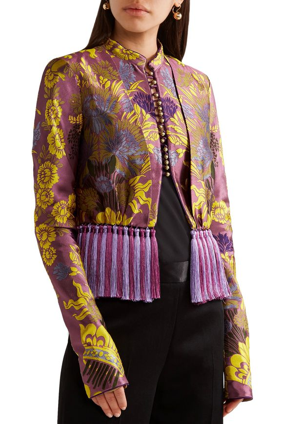 Tassel-trimmed floral-jacquard jacket | ETRO | Sale up to 70% off | THE  OUTNET