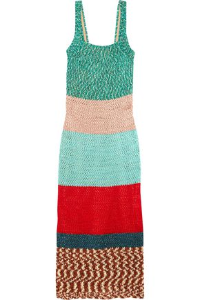 MISSONI Color-block crochet-knit maxi dress
