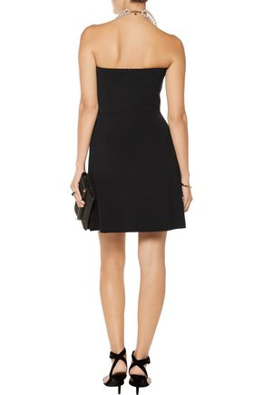 STELLA McCARTNEY Marcy ruffled wool-blend crepe mini dress