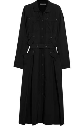 BOTTEGA VENETA Belted voile midi dress