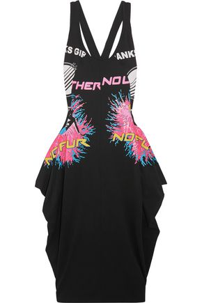 STELLA McCARTNEY Olwen cutout printed cotton-jersey dress