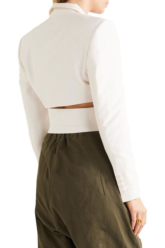 Abigail cropped cutout cady jacket | STELLA McCARTNEY | Sale up to 70% off  | THE OUTNET