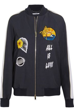 STELLA McCARTNEY Embroidered faille bomber jacket