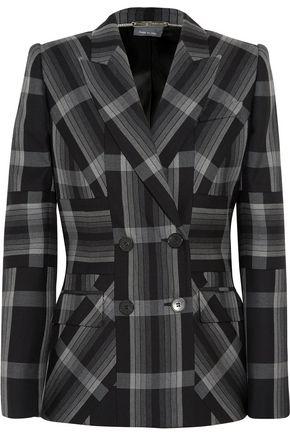ALEXANDER MCQUEEN Checked silk and wool-blend blazer