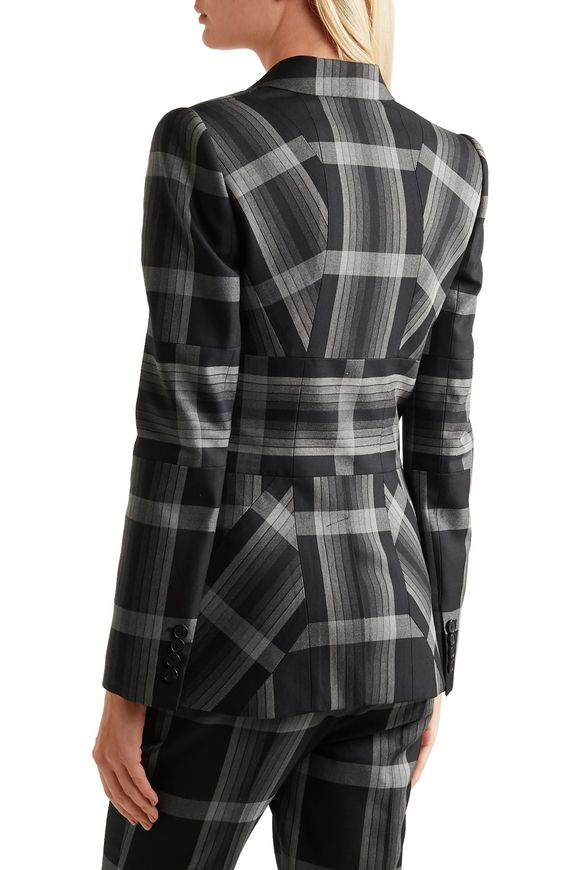 Checked silk and wool-blend blazer | ALEXANDER MCQUEEN | Sale up to 70% off  | THE OUTNET