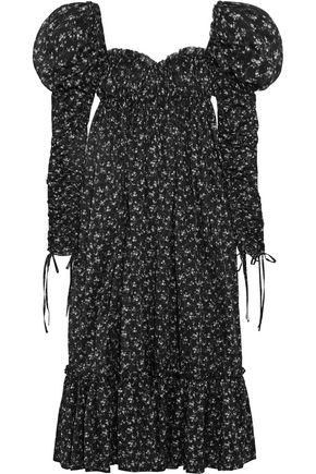 ALEXANDER MCQUEEN Floral-print cotton-voile maxi dress
