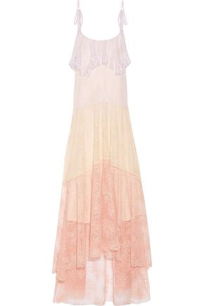 PHILOSOPHY di LORENZO SERAFINI Tiered guipure lace maxi dress
