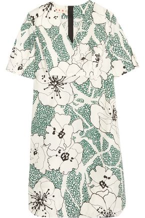 MARNI Floral-print cotton dress