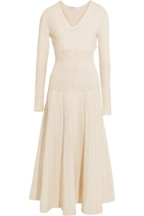 BARBARA CASASOLA Paneled stretch-knit midi dress