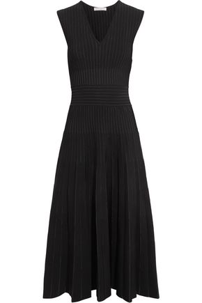 BARBARA CASASOLA Paneled stretch-knit dress