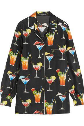 DOLCE & GABBANA Printed silk-twill shirt