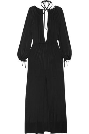 Alessandra Rich Woman Gathered Jersey Gown Black Size 40 Alessandra Rich CGwzNXan