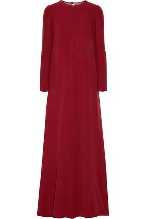 VALENTINO Draped silk-cady gown