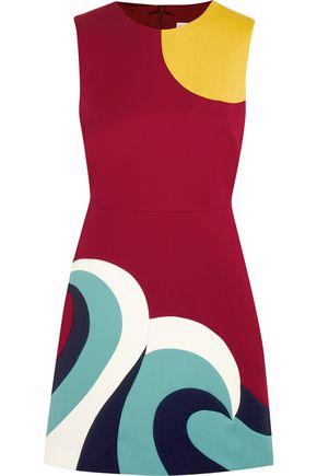 REDValentino Paneled cotton-cady mini dress