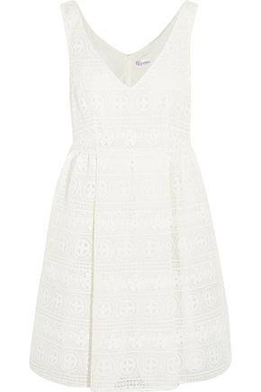 REDValentino Crocheted lace mini dress