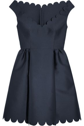 REDValentino Scalloped twill mini dress