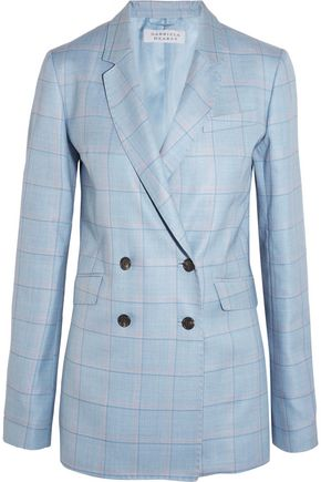GABRIELA HEARST Themis checked silk and wool-blend blazer