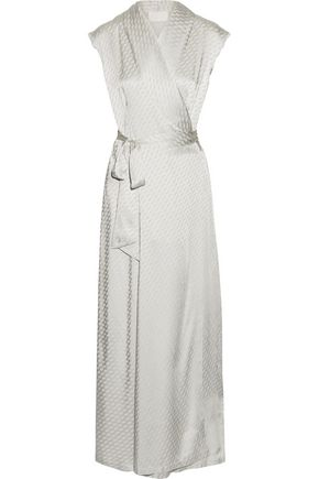 MAISON MARGIELA Satin-jacquard wrap maxi dress