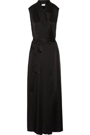 MAISON MARGIELA Satin-jacquard wrap maxi dress