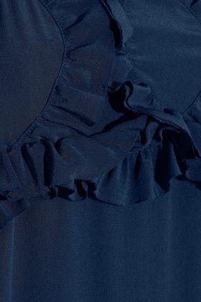 SEE BY CHLOÉ Ruffled silk crepe de chine midi dress