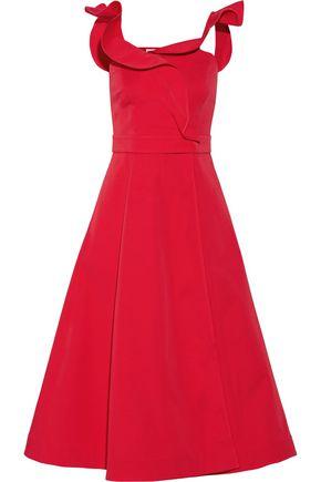 VIKA GAZINSKAYA Wrap-effect cotton-twill midi dress