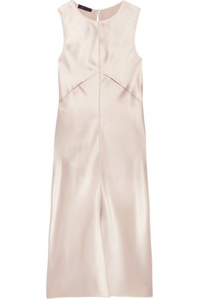 CALVIN KLEIN COLLECTION Lamica tulle-trimmed silk-satin dress