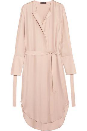 CALVIN KLEIN COLLECTION Leryn belted silk-georgette midi dress