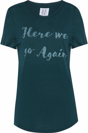 ZOE KARSSEN Printed cotton and modal-blend T-shirt