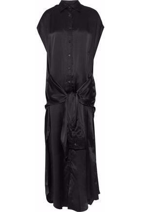 R13 Tie-front silk midi dress