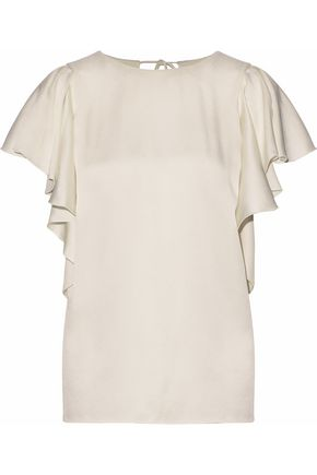 LANVIN Satin-crepe top