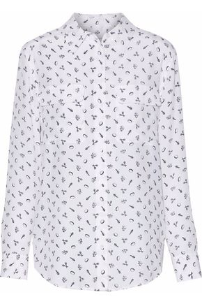 EQUIPMENT Printed silk-crepe de chine blouse