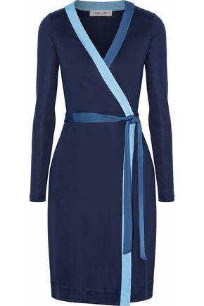 DIANE VON FURSTENBERG Silk-satin wrap dress
