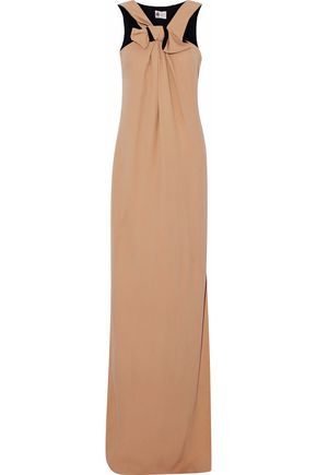 LANVIN Bow-embellished cady maxi dress