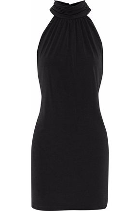 RACHEL ZOE Gathered crepe mini dress