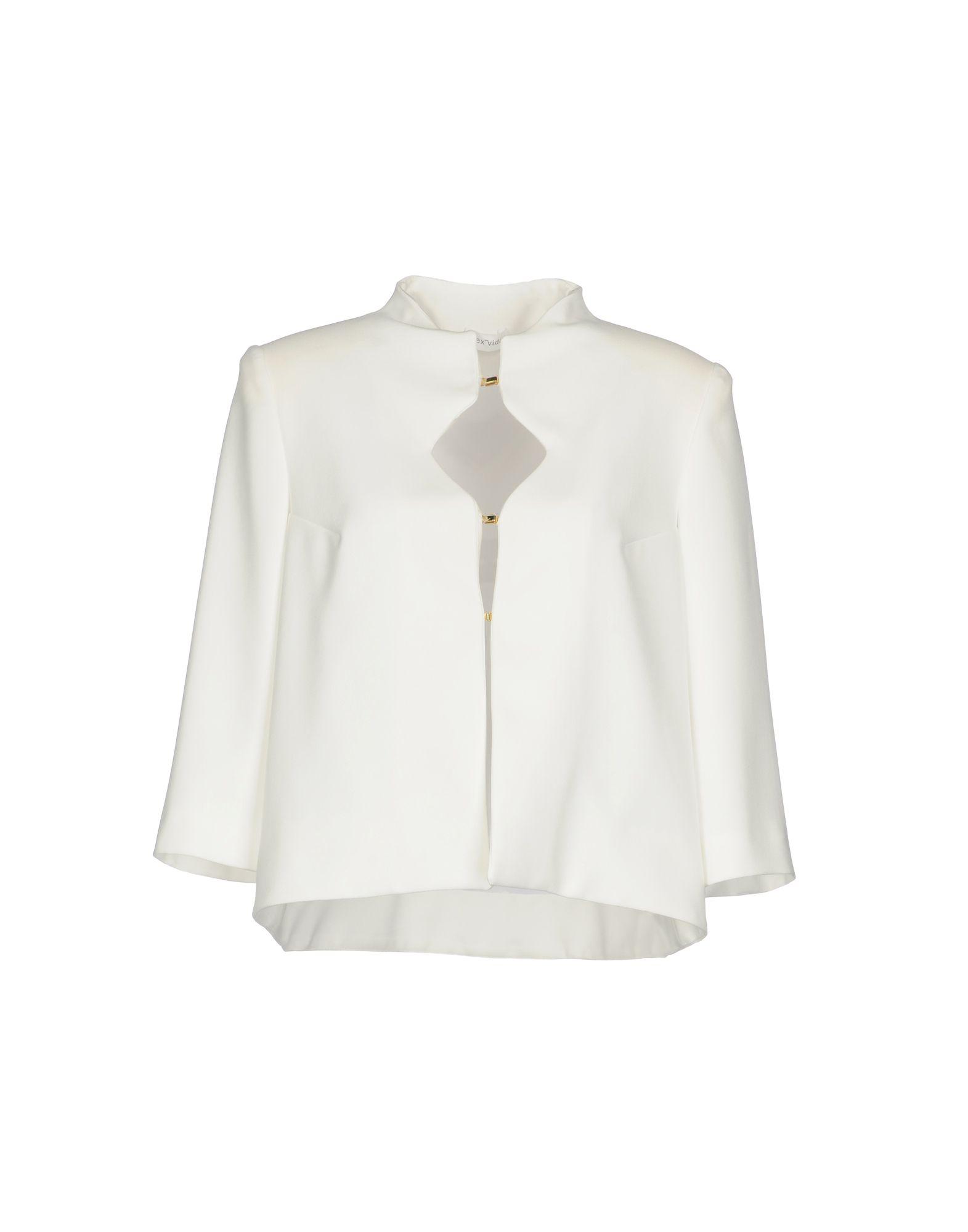 《期間限定セール中》ALEX VIDAL レディース テーラードジャケット ホワイト 36 ポリエステル 100%