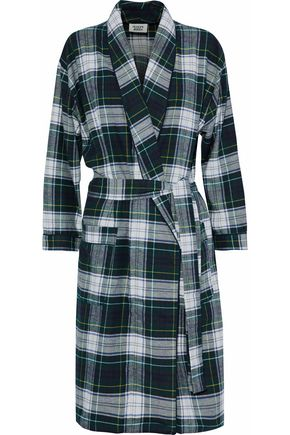 SLEEPY JONES Cotton flannel robe
