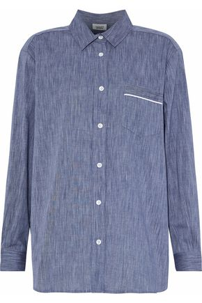 SLEEPY JONES Cotton-chambray nightshirt