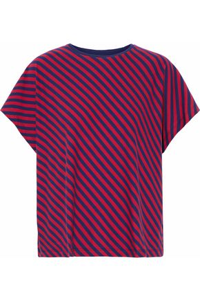 SLEEPY JONES Striped cotton-jersey pajama top
