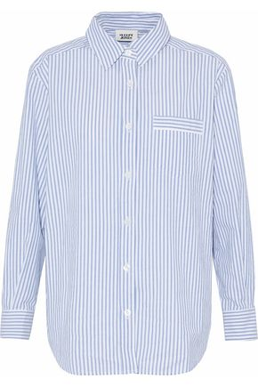 SLEEPY JONES Striped cotton-poplin nightshirt