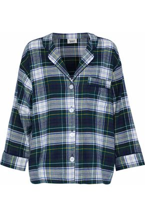 SLEEPY JONES Cotton flannel pajama top